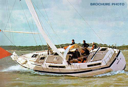 Photograph of similar yacht from Moody's brochure (being driven rather ...