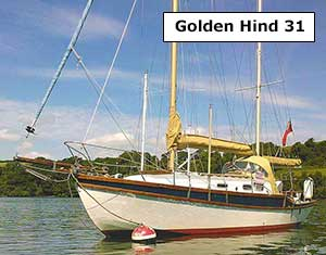 Ketch rigged Golden Hind 31 for sale